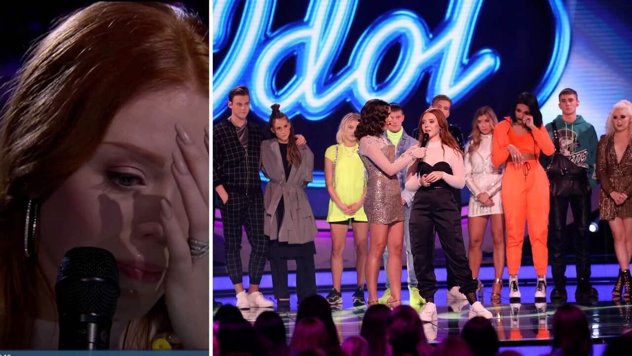 Hon tvingas bort från tävlingen – tårarna i sändning