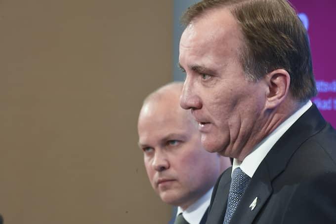 Morgan Johansson, justitie- och inrikesminister och statsminister Stefan Löfven. Foto: FREDRIK SANDBERG/TT / TT NYHETSBYRÅN