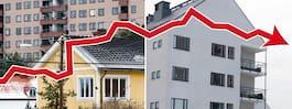 SBAB: Bostadspriserna faller nästan tio procent