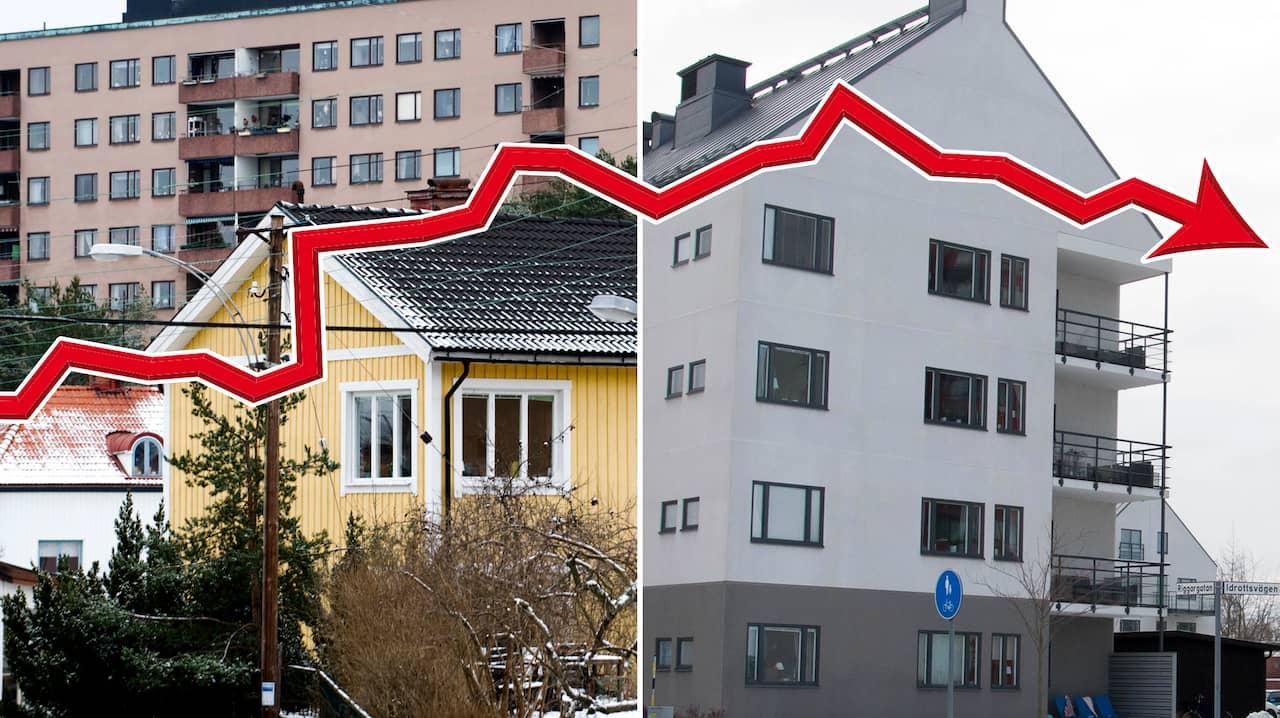 Huspriserna stiger snabbast utanfor storstaderna