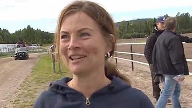 Nina Jonsson efter segern i Kriteriestoet Foto: TV12