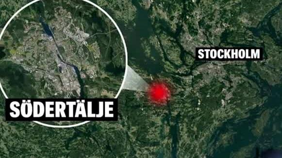 Larm om skottlossning i Södertälje