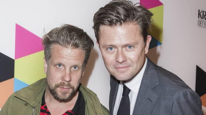 """Kanal 5-profilerna Filip och Fredrik håller valvakan """"Trump vs Clinton - valvaka med Filip och Fredrik"""" under det amerikanska valet natten mot onsdag. Foto: Jari Kantola / STELLA PICTURES"""