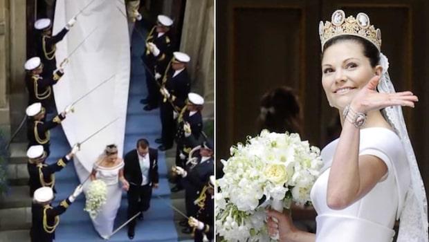 Victorias brudklänning bär på en hemlighet – vet du vad?