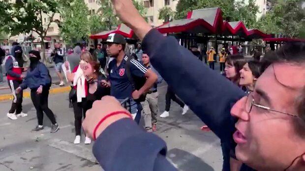 Utegångsförbud i Chiles huvudstad Santiago efter protesterna