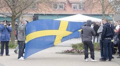 Sverigedemokraterna är en regional företeelse i Skåne och Blekinge. Trots det kan partiet få en plats i riksdagen om det lyckas få 8000 fler röster. Foto: Joachim Wall