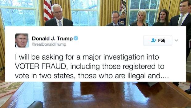Donald Trump inleder utredning om röstfusk