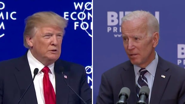 """Biden: """"Samarbete med andra länder"""" vs. Trump: """"USA först"""""""