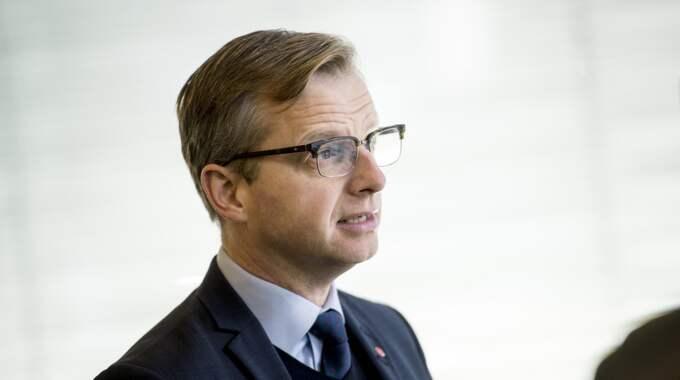 Näringsminister Mikael Damberg, S, efterlyser en starkare oppositionsledare. Foto: Pavel Koubek / TT