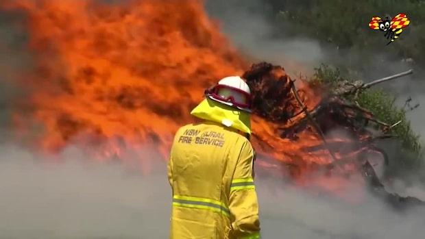 Väderförhållandena får bränderna att sprida sig i rasande takt