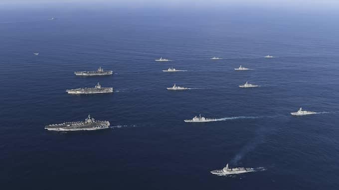 Nyligen övade Sydkoreas och USAs militär tillsammans. Foto: AP / AP TT NYHETSBYRÅN