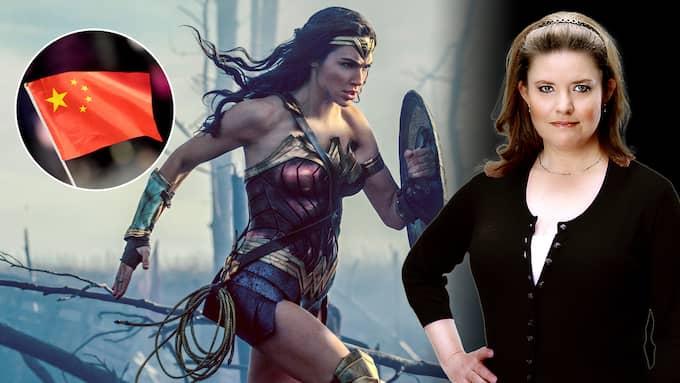 Skulle Kina över huvud taget släppa in en Wonder Woman-film med en lesbisk kärlekshistoria? Det är sånt som Hollywood och amerikaner på filmsajter kan grunna över, numera.