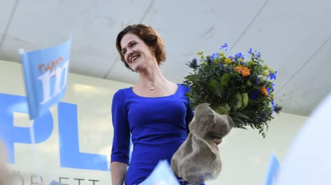 Moderatledaren Anna Kinberg Batra efter sitt tal i Almedalen. Foto: Henrik Montgomery/Tt / TT NYHETSBYRÅN