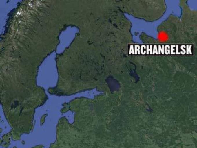 Atomubåten ska ha fattat eld i ett varv i den nordliga provinsen Archangelsk.