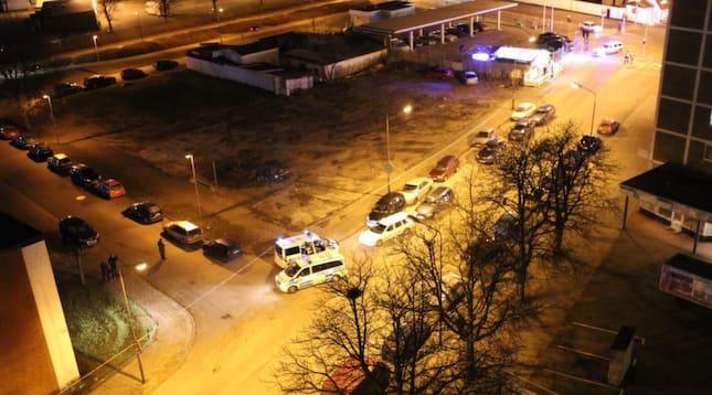 En man är skjuten till döds i Malmö. Foto: Ulf Ryd/KvP